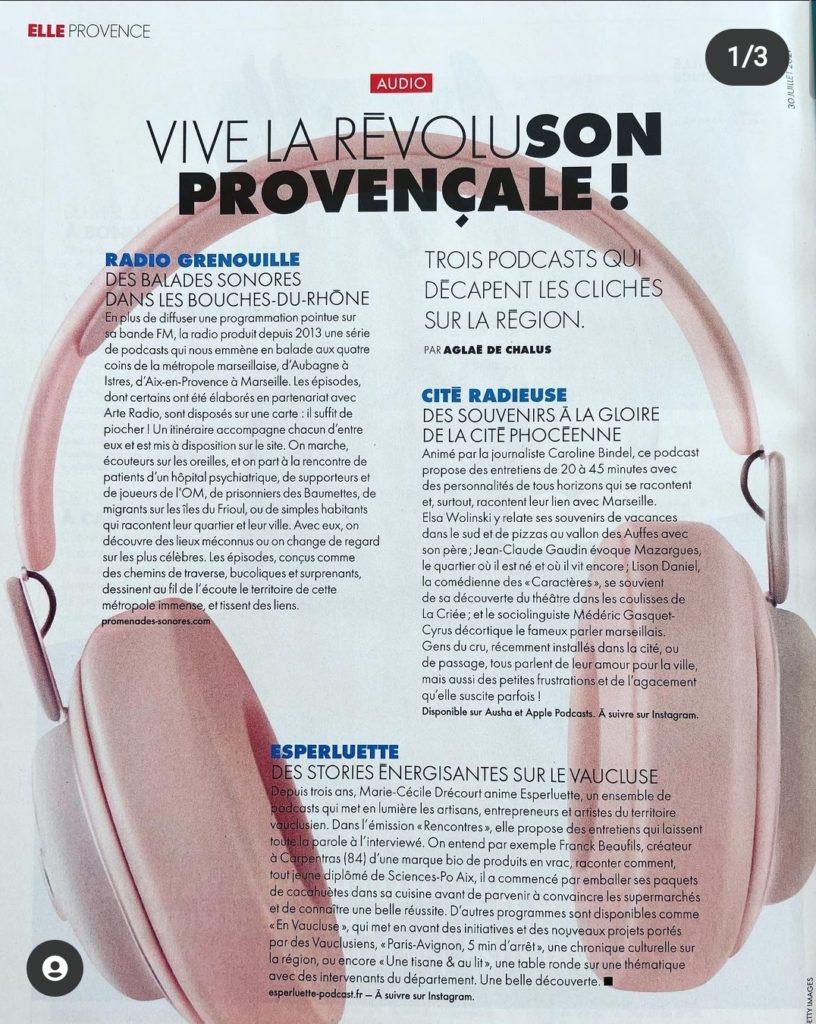 Vive la RévoluSON Provençale - Elle Provence - 31 Juillet 2021